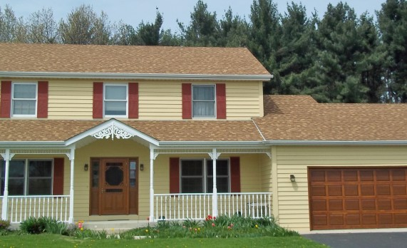 Match your roof color with your siding color